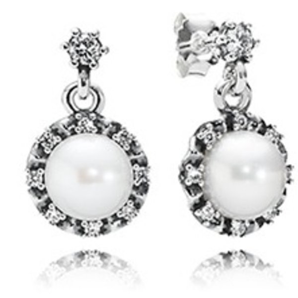 Pandora Everlasting Grace, White Pearl & Clear CZ