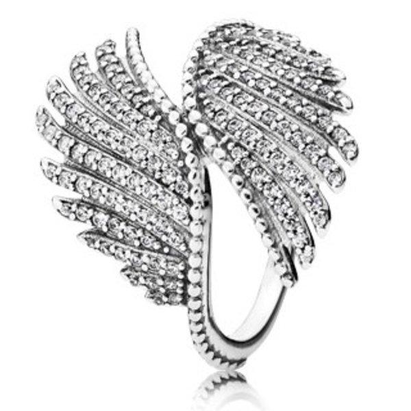 Pandora Majestic Feathers Ring, Size 6