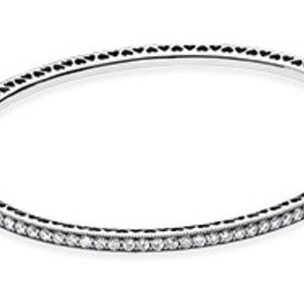Pandora Twinkling Forever Bangle, Size 17