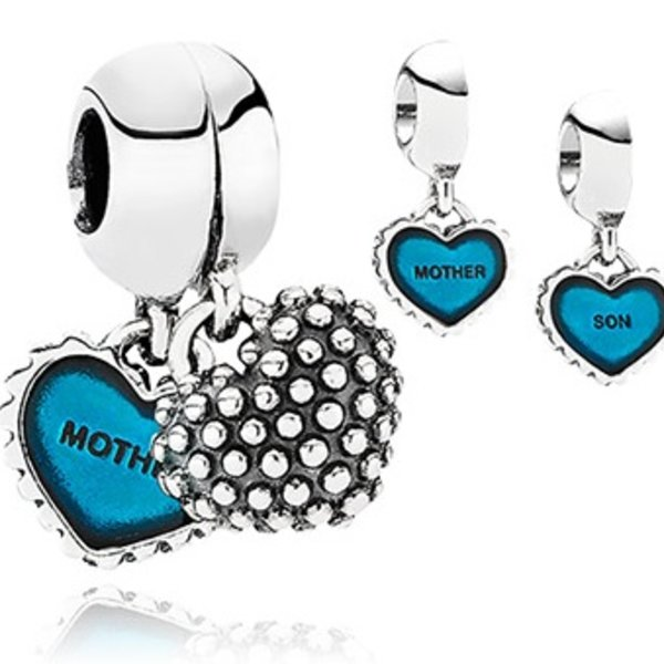 Pandora Piece of My Heart, Son, Turquoise Enamel