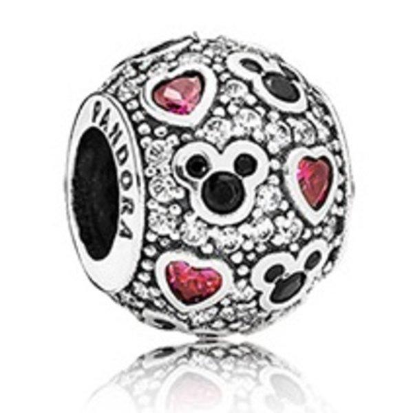 Pandora Sparkling Mickey & Hearts Charm