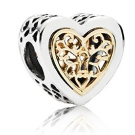 Pandora Locked Hearts Charm