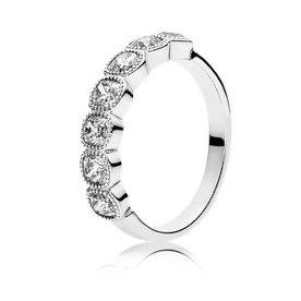 Pandora Alluring Cushion Ring, Size 4.5