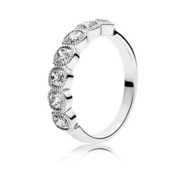 Pandora Alluring Cushion Ring, Size 4.5