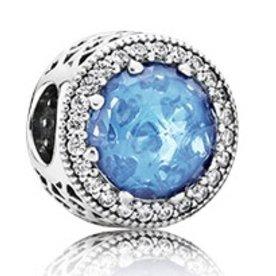 Pandora Radiant Hearts Charm, Sky Blue