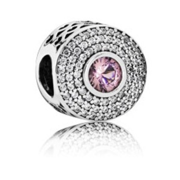 Pandora Radiant Splendor, Blush Pink Crystal & Clear CZ