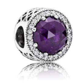 Pandora Radiant Hearts Charm, Royal Purple