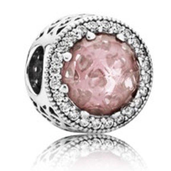 Pandora Radiant Hearts Charm, Blush Pink