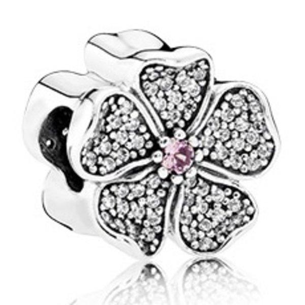 Pandora Sparkling Apple Blossom, Blush Pink Crystal & Clear CZ