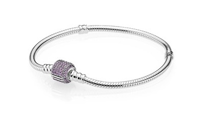 Moments Bracelet W Purple Cz Pave Clasp 18 Cm 7 1 In Memories Jewelry Boutique