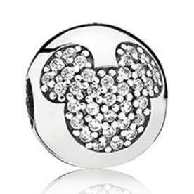 Pandora Mickey Pave Clip