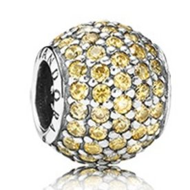 Pandora Pave Lights, Golden-Yellow Charm