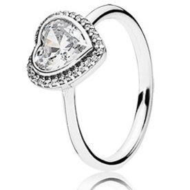 Pandora Sparkling Love Ring, Size 4.5