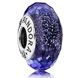 Pandora Blue Fascinating Iridescense, Murano Glass