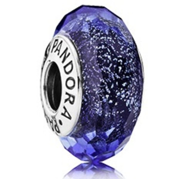 Pandora Blue Fascinating Iridescense, Murano Glass