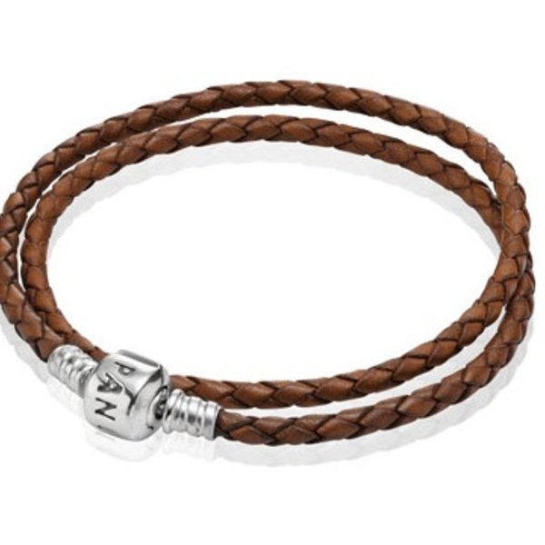 Pandora Brown Leather Bracelet, 15in
