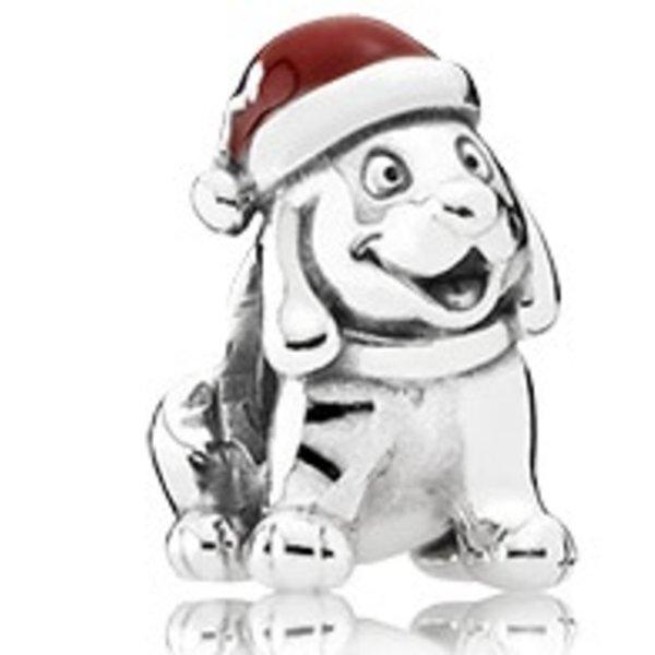 Pandora Christmas Puppy Charm