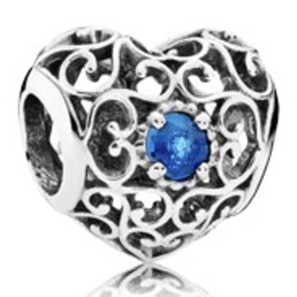 Pandora December Signature Heart Charm