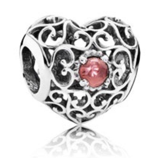 Pandora January Signature Heart Charm