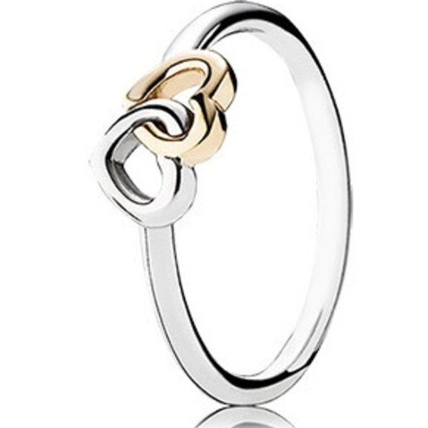 Pandora Heart to Heart Ring, Size 7.5