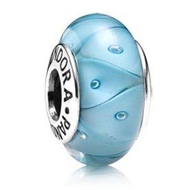 Pandora Turquoise Looking Murano Glass