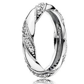 Pandora Ribbon of Love Ring, Size 7.5