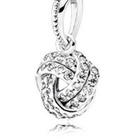 Pandora Sparkling Love Knot Pendant Charm