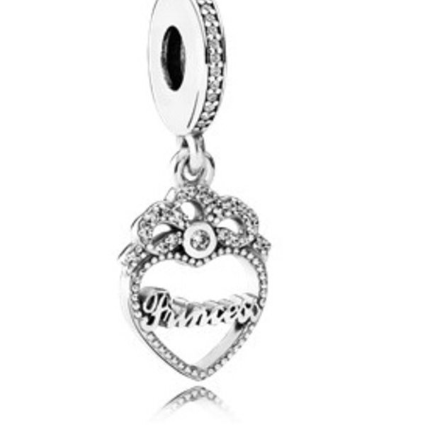 Pandora Princess Crown Heart Charm
