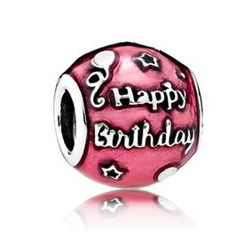 "Pandora Birthday Celebration w/""Happy Birthday to You"" Charm"