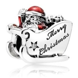 Pandora Sleighing Santa Charm