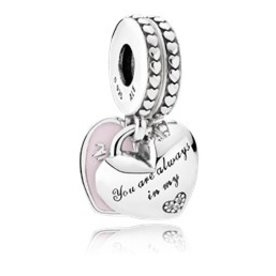 Pandora Mother & Daughter Hearts Double Charm