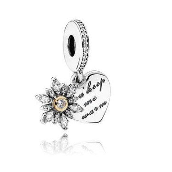 Pandora Dangle Snowflake Heart Charm