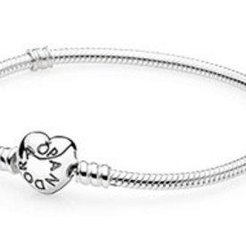 Pandora Heart Clasp Bracelet, Size 21