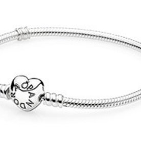 Pandora Heart Clasp Bracelet, Size 23