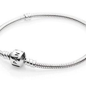 Pandora Sterling Silver Bracelet, Size 19
