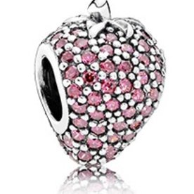 Pandora Strawberry Pave Charm