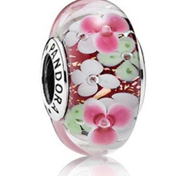Pandora Flower Garden Murano Glass
