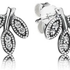 Pandora Sparkling Leaves Earrings