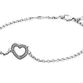 Pandora Heart Bracelet, 7.1in