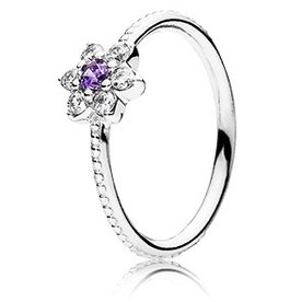 Pandora Forget Me Not, Smaller Ring, Size 6