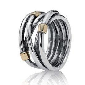 Pandora Silver Rope Ring, Size 9