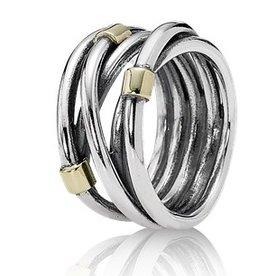 Pandora Silver Rope Ring, Size 7