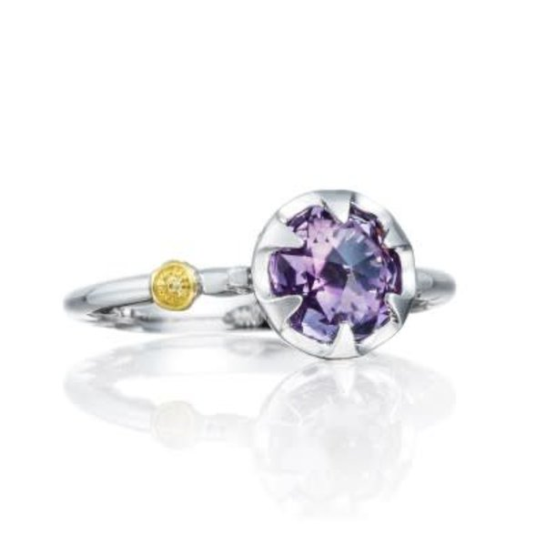 Tacori Petite Crescent Bezel Ring featuring Amethyst