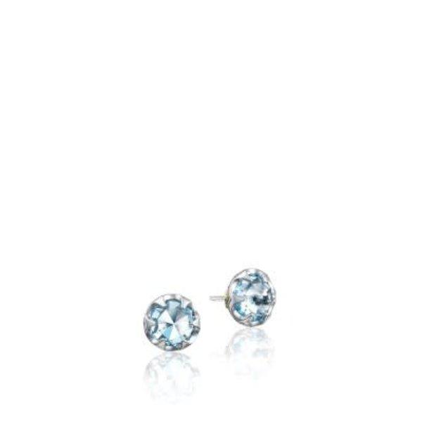 Tacori Petite Crescent Bezel Earrings featuring Sky Blue Topaz