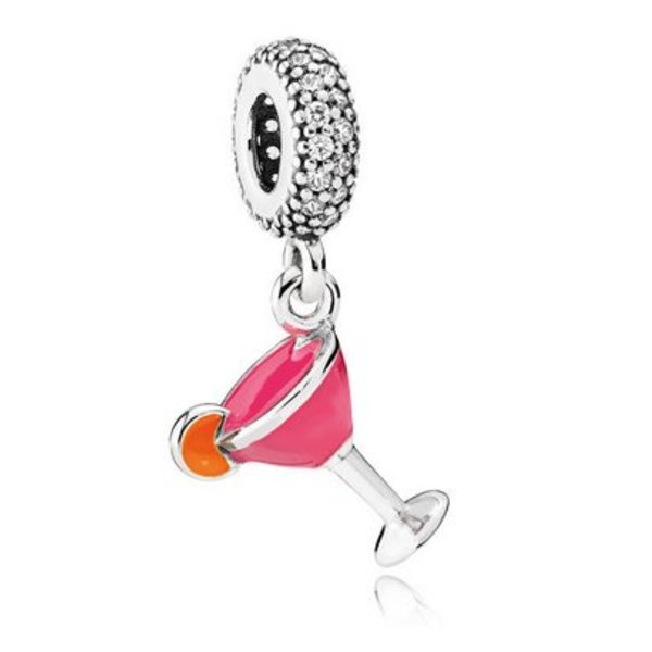 Pandora Cocktail Glass Charm