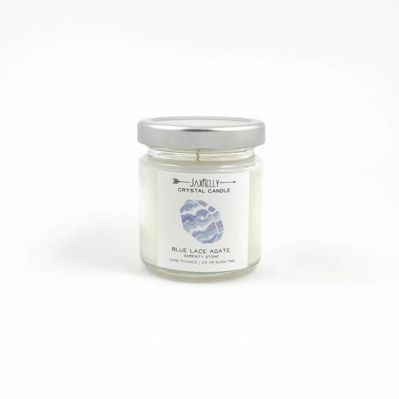 Little Sister Blue Lace Agate Candle