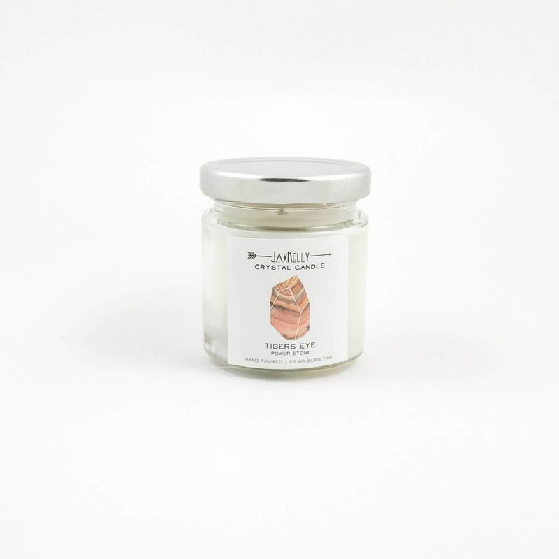 Little Sister Tiger's Eye Candle