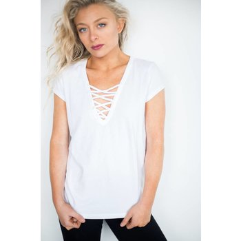 BRUNETTE The Christina Lace Front Tee