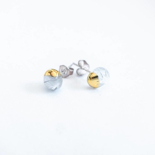 JAXKELLY Gold Dipped Stud Earrings