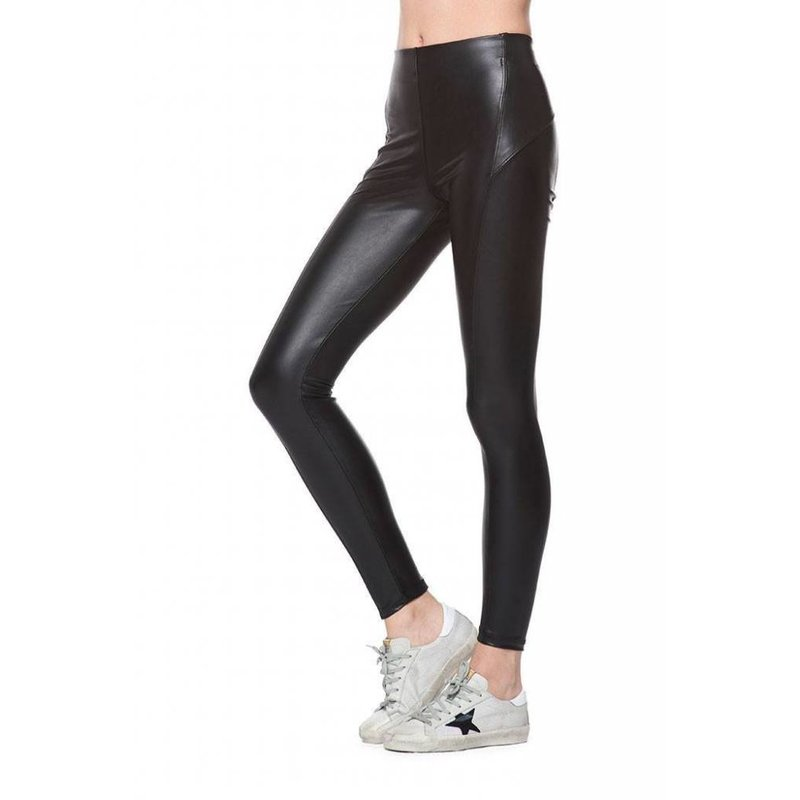 Vegan Leather  High Rise Legging